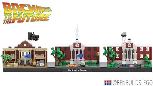 "Lego ""Back to the Future"" skyline MOC"