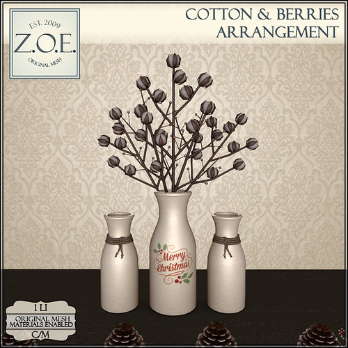 Z.O.E. Cotton & Berries Arrangement
