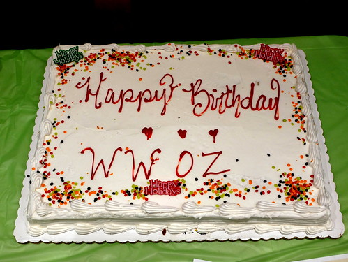 Cake at WWOZ's 39th birthday - Dec. 4, 2019. Photo by Louis Crispino.