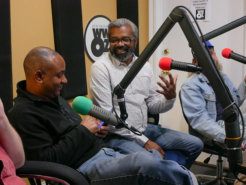 Damond Jacob and Dwayne Breashears at WWOZ's 39th birthday - Dec. 4, 2019. Photo by Louis Crispino.