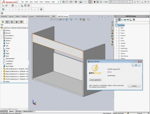 Working with EFICAD SWOOD 2019 SP3 for SolidWorks 2010-2020 Win64 full
