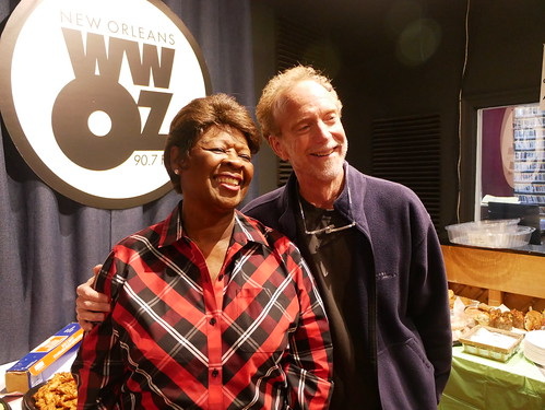 Irma Thomas and J Pegues at WWOZ's 39th birthday - Dec. 4, 2019. Photo by Louis Crispino.