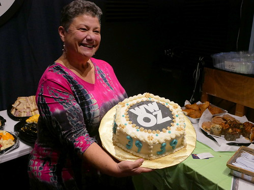 Beth Arroyo Utterback at WWOZ's 39th birthday - Dec. 4, 2019. Photo by Louis Crispino.