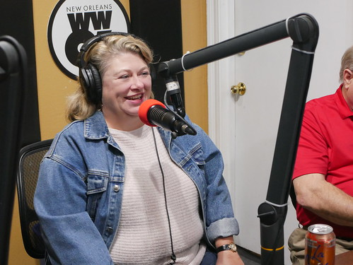Elizabeth Meneray at WWOZ's 39th birthday - Dec. 4, 2019. Photo by Louis Crispino.