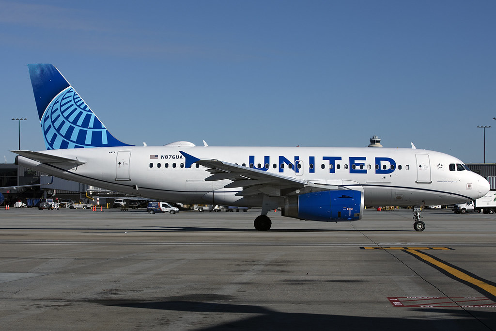 N876UA - Airbus A319-132 - United - KATL - Dec 2019