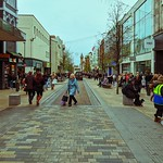 Preston's Fishergate during the afternoon
