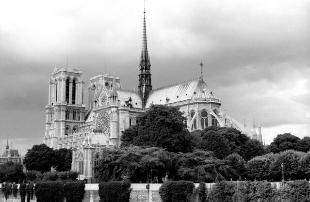 Notre-Dame de Paris, France, in 1986
