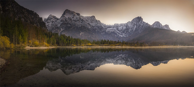 _DSC4282_83 Panorama from the lake Almsee / Upper-Austria