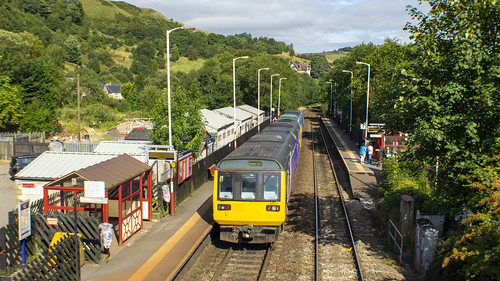 Train at Walsden Station Platform 2