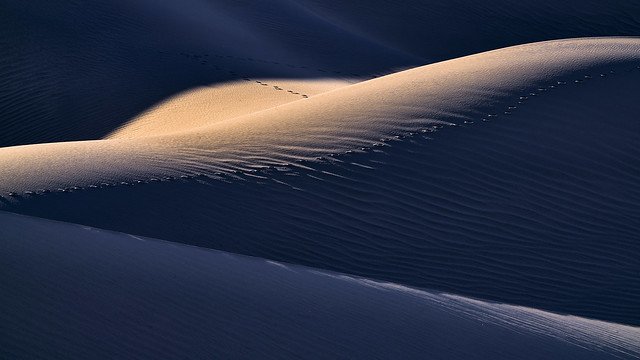 Poetry in Sand - Sunset at Mesquite Flat Dunes - Death Valley National Park, California