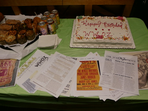 Historic cake table at WWOZ's 39th birthday - Dec. 4, 2019. Photo by Louis Crispino.