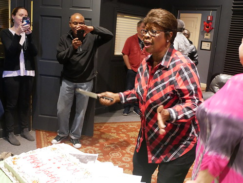 Irma Thomas sings us happy birthday at WWOZ's 39th birthday - Dec. 4, 2019. Photo by Louis Crispino.