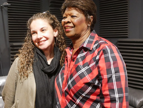 Mikayla Braun and Irma Thomas at WWOZ's 39th birthday - Dec. 4, 2019. Photo by Louis Crispino.
