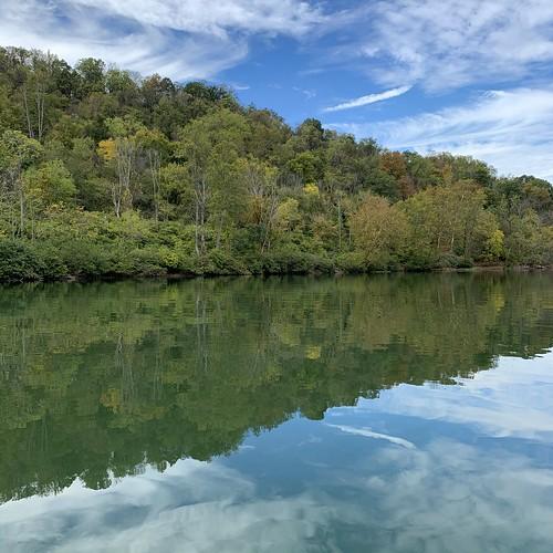 river water sky reflection autumn monongaliariver morgantownmarina morgantown wv landscape