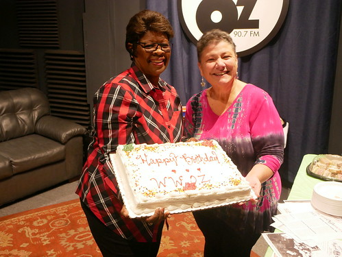 Irma Thomas and Beth Arroyo Utterback at WWOZ's 39th birthday - Dec. 4, 2019. Photo by Louis Crispino.