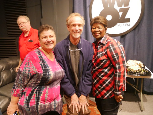 Beth Arroyo Utterback, J Pegues, and Irma Thomas at WWOZ's 39th birthday - Dec. 4, 2019. Photo by Louis Crispino.