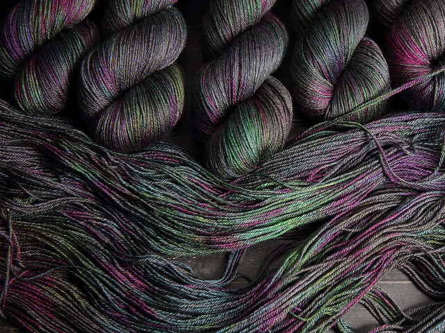 Brilliance 4 Ply – British Bluefaced Leicester wool and silk hand-dyed yarn 100g – 'Space Race'