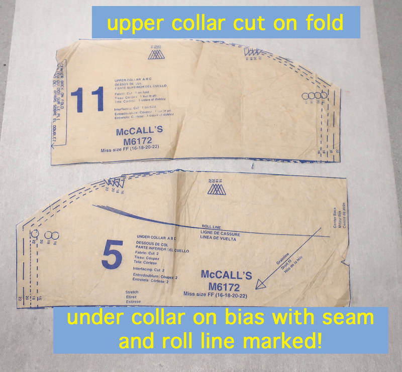 McCalls pattern collar