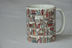 20191207 Mug with Words - the Cat's Library