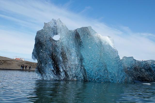 Shimmering Iceberg in Jökulsárlón Glacial Lagoon