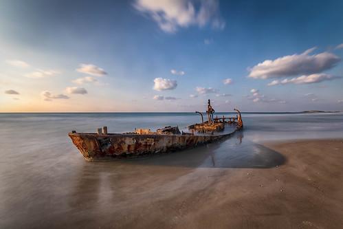 habonim longexposure lanscape israel beach sunset waves sea