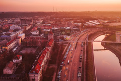 Pink sunrise | Kaunas aerial
