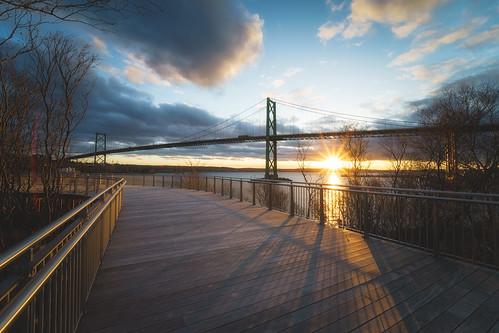bedfordbasin landscape sunset goldenhour sunstar halifax dartmouth bridge halifaxharbour
