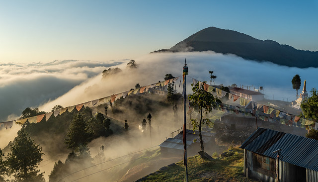 Village in the clouds, Kutumsang, Nepal