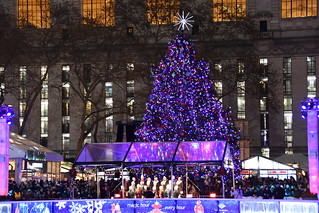 Picture Of The 2019 Bryant Park Christmas Tree In New York City Taken After Being Lit On Thursday December 5, 2019. Photo Taken Thursday December 5, 2019