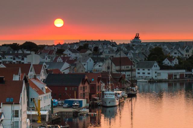 Sunset in Haugesund
