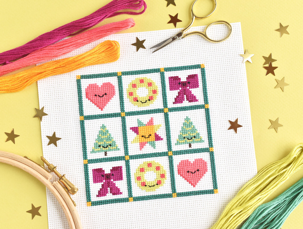 Christmas Quilt Sampler Cross Stitch Chart