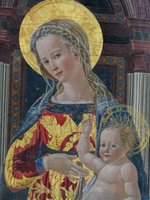 Fri, 09/11/2015 - 12:23 - Enthroned Madonna and Child (c1445) by Giovanni di Francesco - Bargello Florence 11/09/2015