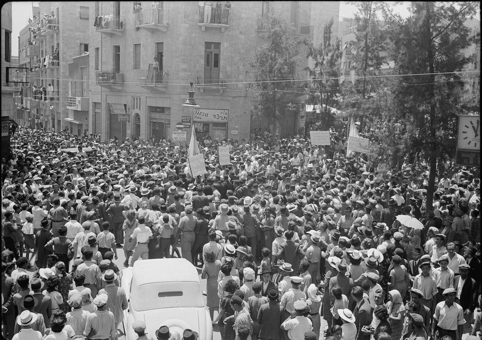 11. Митинг на углу улицы Кинг Джордж и дороги Агриппы