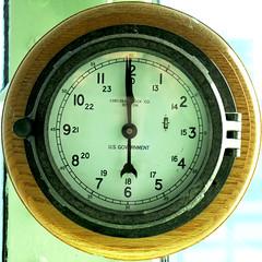 Clock on the bridge of USS Intrepid