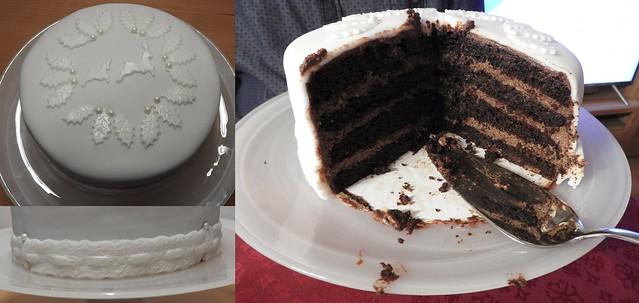 Homemade chocolate baileys cake - Hausgemachter Schoko-Baileys Kuchen