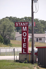 Stanton Motel Sign on Route 66 in Stanton, Missouri