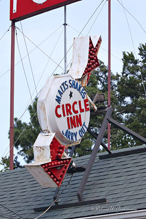 Circle Inn Malt Shop Sign on Route 66 in Bourbon, Missouri I