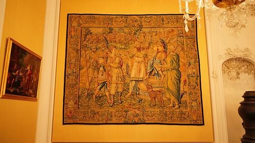 Wandteppich Bruchsal Schloss Beletage Gelbes Zimmer III