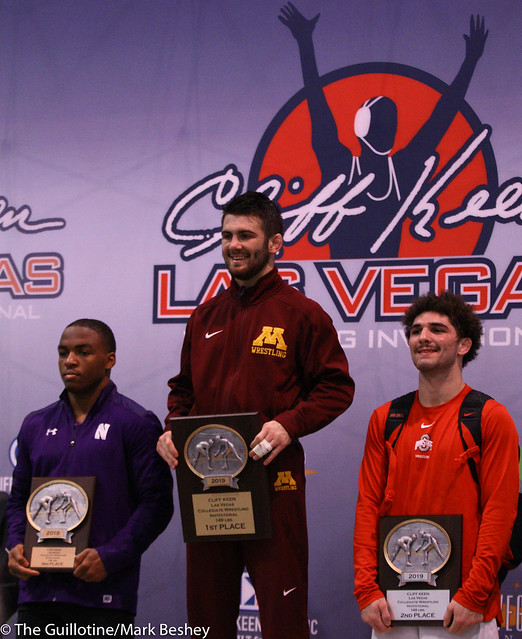 2019 Cliff Keen Las Vegas Invitational 149 pound champion Brayton Lee - 191207bmk0059