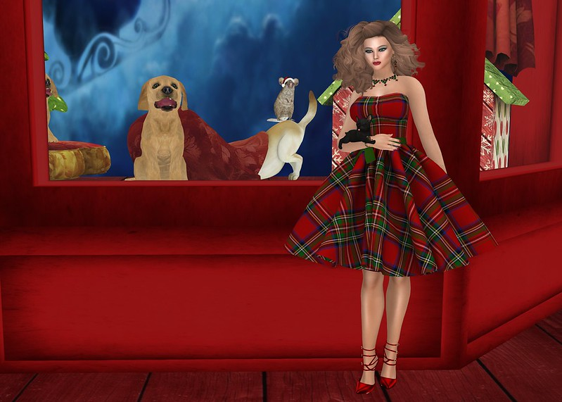SL Christmas Expo - Altamura - Miriam FullBody SL Christmas Expo Edition / Altamura Fashion - Mina Dress / BamPu Legacies - How Much Is That Doggie In The Window FATPACK