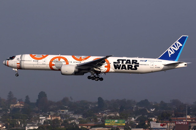 All Nippon Airways | Boeing 777-300ER | JA789A | Star Wars livery | Los Angeles International