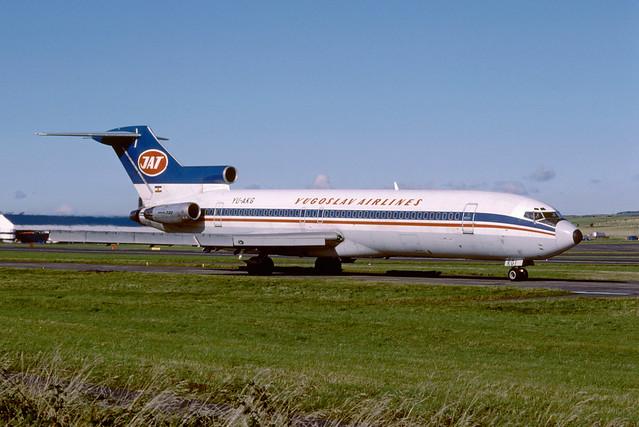 YU-AKG Boeing B727-2H9 EGPK 1987