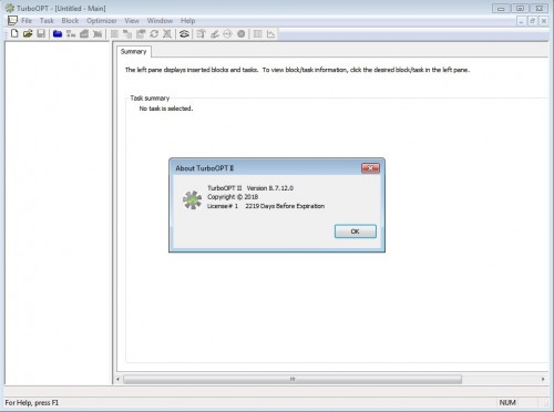 Working with TURBOOPTII 8.7.12.0 full license