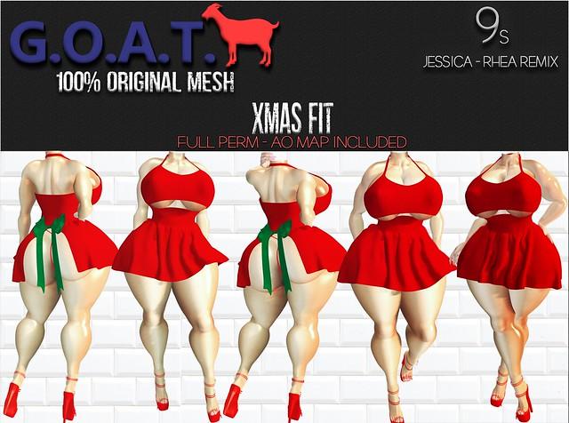 G.O.A.T. 9s JESSICA & RHEA XMAS FIT FULL PERM