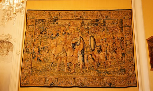 Wandteppich Bruchsal Schloss Beletage Gelbes Zimmer I