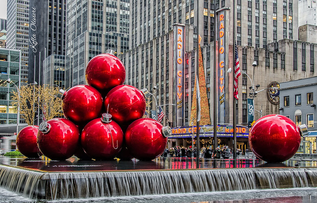 NYC Red Christmas Ornaments