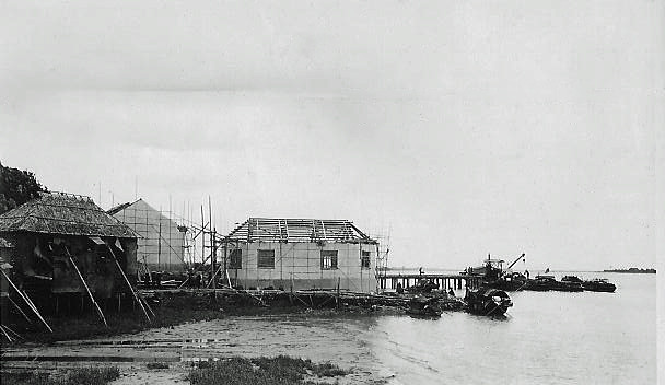 Wesselingh family archives: Guangzhou, Huangpu district, house  and office under construction, 1937