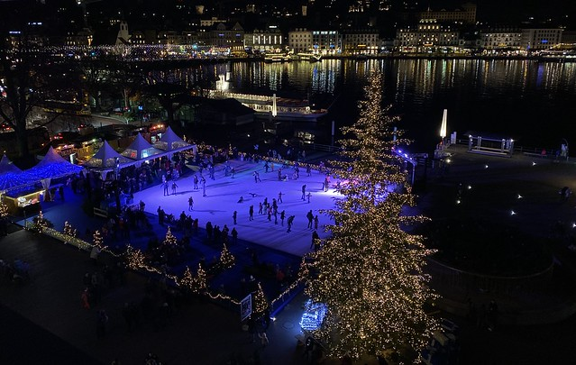 Luzern / Lucerne Europa Platz Switzerland winter wonderland