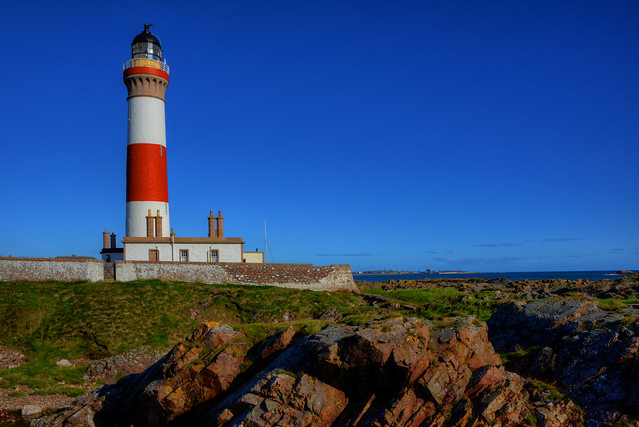 BUCHAN NESS LIGHTHOUSE, BODDAM, ABERDEENSHIRE, SCOTLAND.