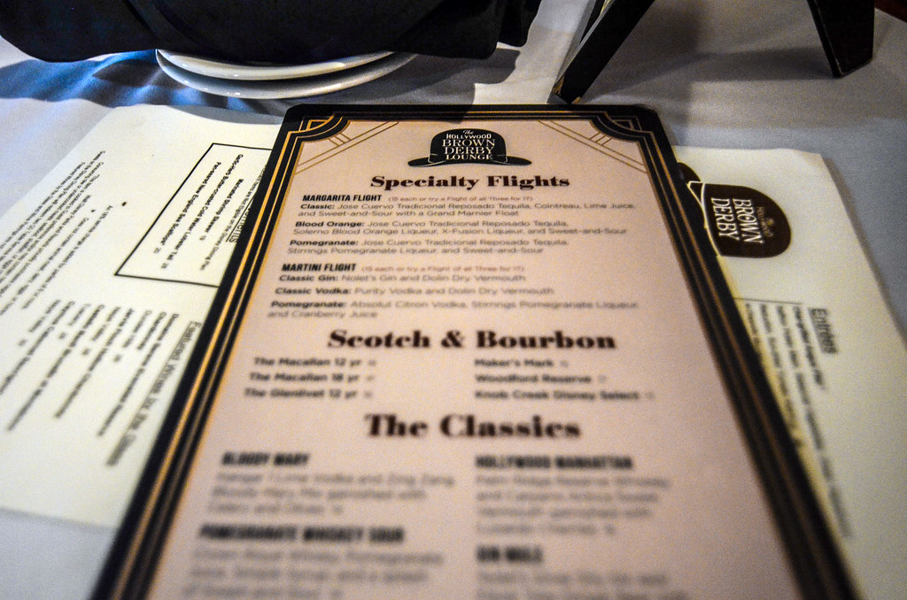 Brown Derby Lounge menu DHS